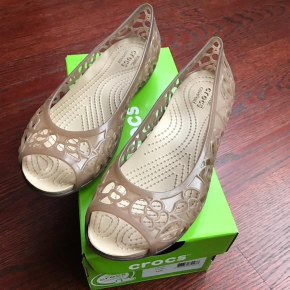 093e3b35544 CROCS Shoes - Crocs Isabella jelly flat shoes size 6